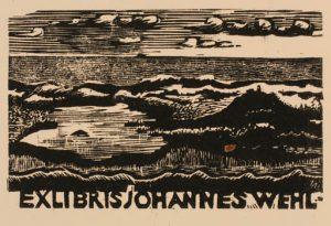 Zeichnung des Künstlers Ulrich Bewersdorf für Johannes Wehl